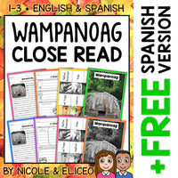 Wampanoag Close Reading Passage Activities
