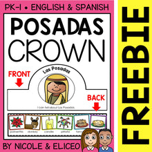 Load image into Gallery viewer, FREE Las Posadas Christmas Activity Crown Craft
