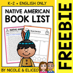 FREE Native American Activities and Book List