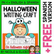 Load image into Gallery viewer, Halloween Writing Craft Activity