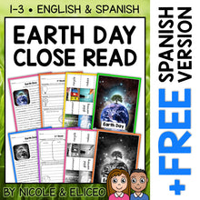 Load image into Gallery viewer, Earth Day Close Reading Passage Activities