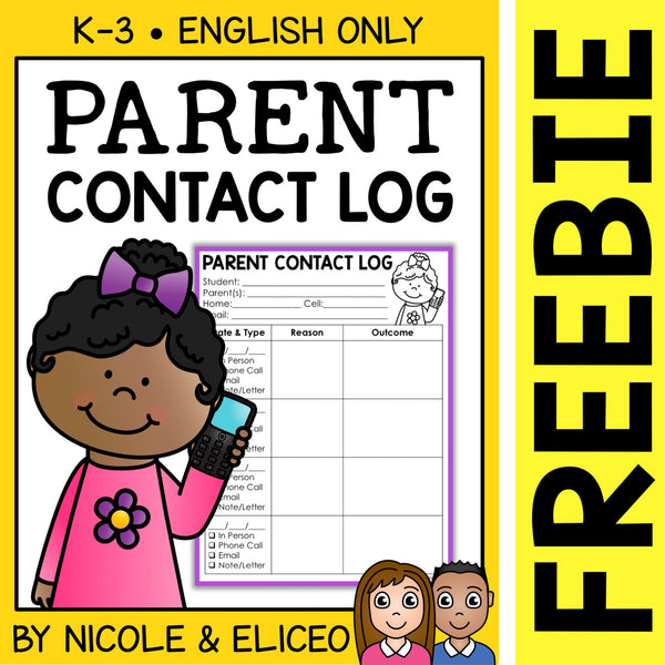 FREE Parent Communication Contact Log