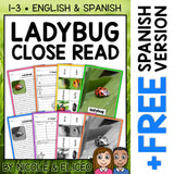 Ladybug Close Reading Passage Activities