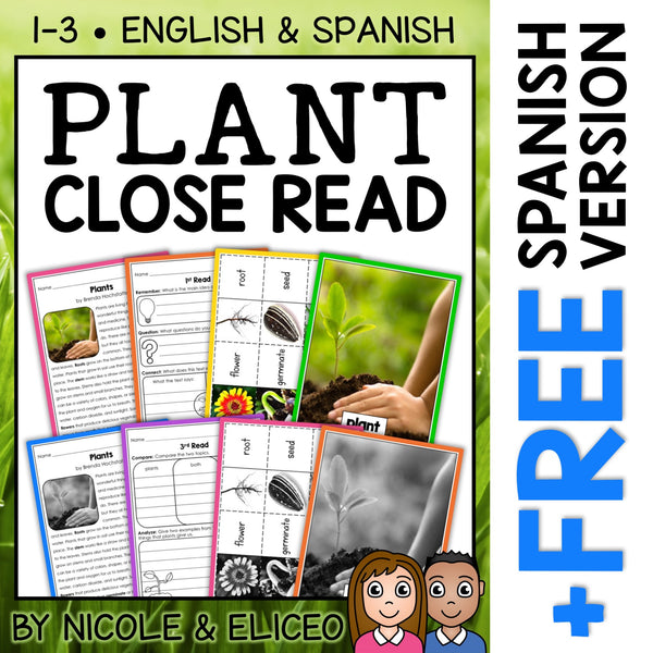 Plant Close Reading Passage Activities