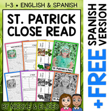 Load image into Gallery viewer, St Patricks Day Close Reading Passage Activities