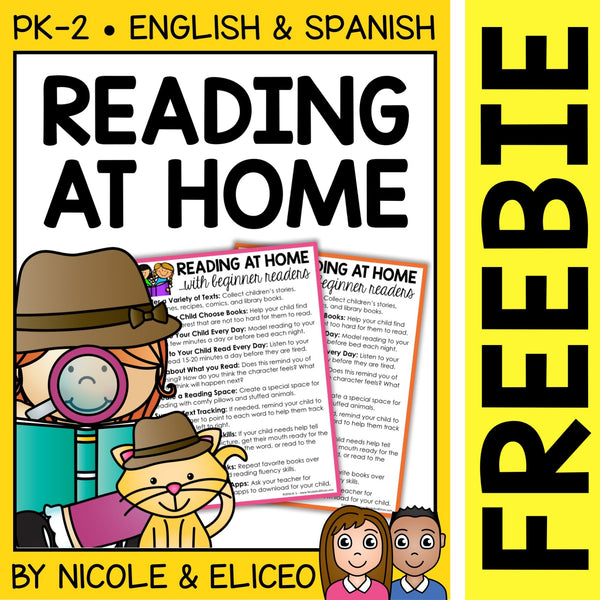 FREE Reading at Home Tips Handout