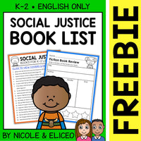 FREE Social Justice Activities and Book List