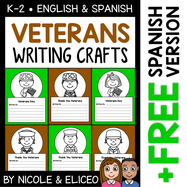 Veterans Day Writing Prompt Crafts