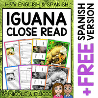 Iguana Close Reading Passage Activities