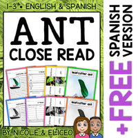 Leafcutter Ant Close Reading Passage Activities