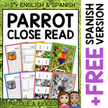 Load image into Gallery viewer, Parrot Close Reading Passage Activities