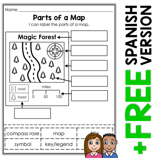 Parts of a Map Activity