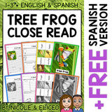 Tree Frog Close Reading Passage Activities