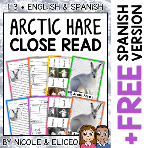Arctic Hare Close Reading Passage Activities