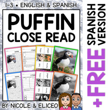 Load image into Gallery viewer, Puffin Close Reading Passage Activities