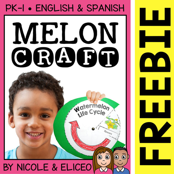 FREE Watermelon Life Cycle Craft Activity