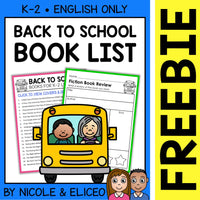 FREE Back to School Activities and Book List