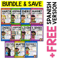 Science Sort Activities Bundle