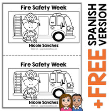 Load image into Gallery viewer, Fire Safety Week Book Activity