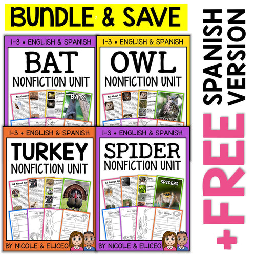 Fall Animal Nonfiction Units Bundle