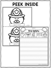 Load image into Gallery viewer, Fire Safety Writing Craft Activity