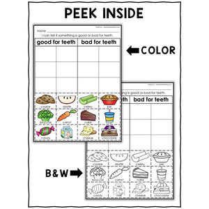 Dental Health Sort Activities