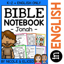 Load image into Gallery viewer, Jonah and the Whale Bible Lessons Notebook