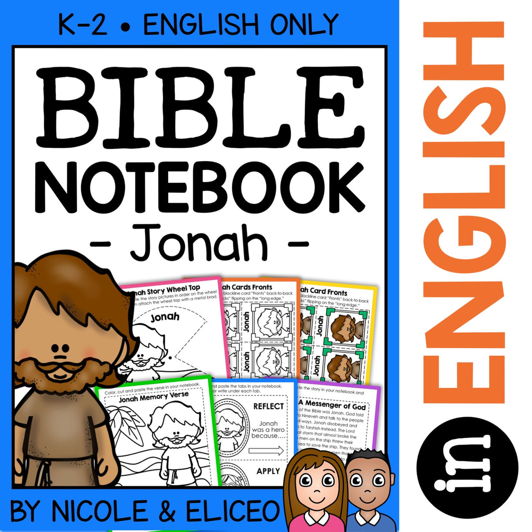 Jonah and the Whale Bible Lessons Notebook