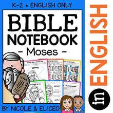 Load image into Gallery viewer, Moses Bible Lessons Notebook