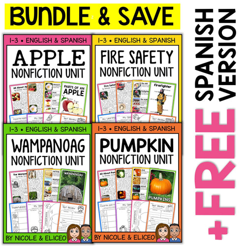 Fall Theme Nonfiction Units Bundle