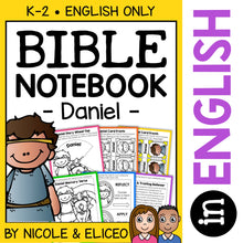 Load image into Gallery viewer, Daniel and the Lions Den Bible Lessons Notebook