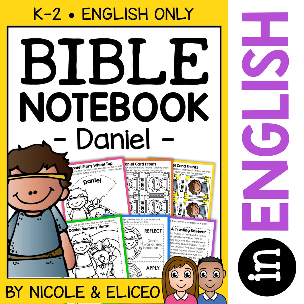 Daniel and the Lions Den Bible Lessons Notebook