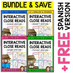 Close Reading Interactive Notebooks Bundle