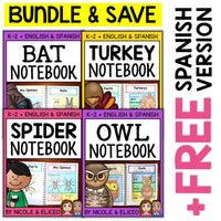 Fall Animal Interactive Notebooks Activities Bundle