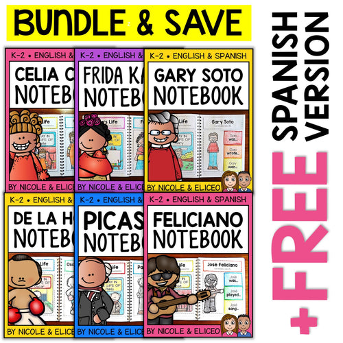 Hispanic Heritage Interactive Notebooks Activities Bundle
