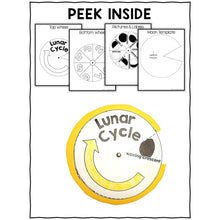 Load image into Gallery viewer, Moon Phases and Lunar Cycle Craft Activity