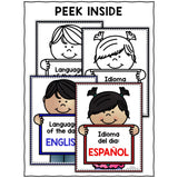 FREE Language of the Day Classroom Signs