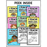 FREE Superhero Teacher Appreciation Posters