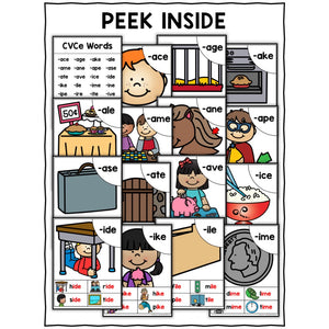 CVCe Word Work Phonics Posters