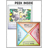 Jungle Animal Close Reading Interactive Notebook
