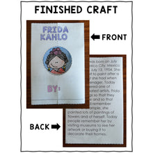 Load image into Gallery viewer, Frida Kahlo Hispanic Heritage Craft Activity