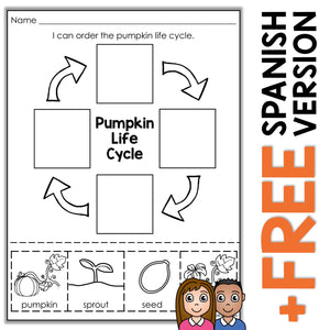 photo regarding Pumpkin Life Cycle Printable called Pumpkin Daily life Cycle Sport