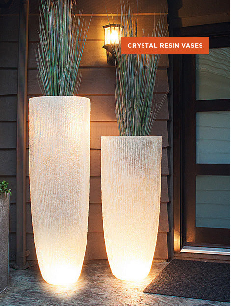 Crystal Resin Vases