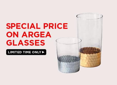 Special price on Argea glasses.