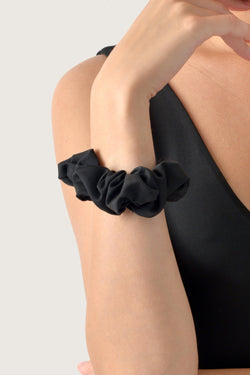 Shiny Hair Scrunchies - Black