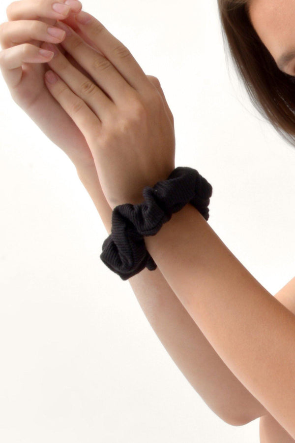 Soft Hair Scrunchies - Black