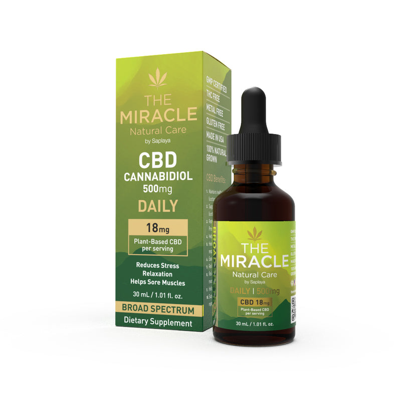 CBD Broad Spectrum Tincture Drops 500mg Counter Display
