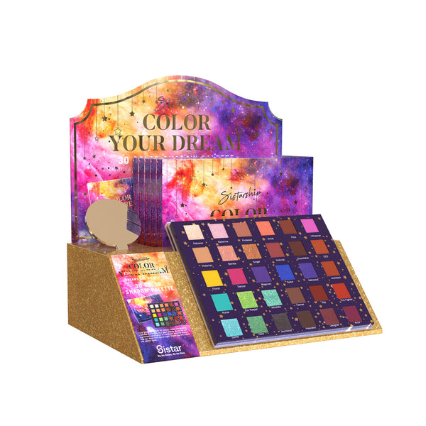 [Color Your Dream] 30 Color Eyeshadow Palette | Paper Display