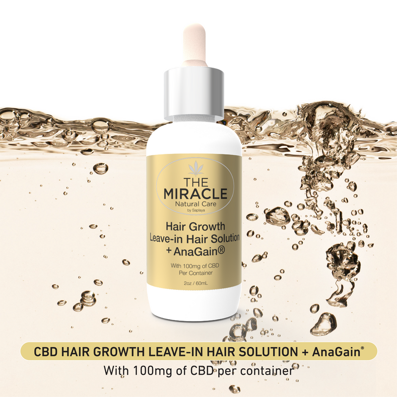 CBD [100mg] Hair Growth Leave-In Hair Solution + AnaGain | 2oz / 60mL