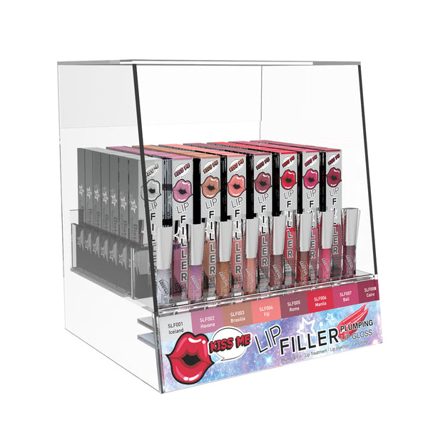 Kiss Me Lip Filler Plumping Lip Gloss | Acrylic Display